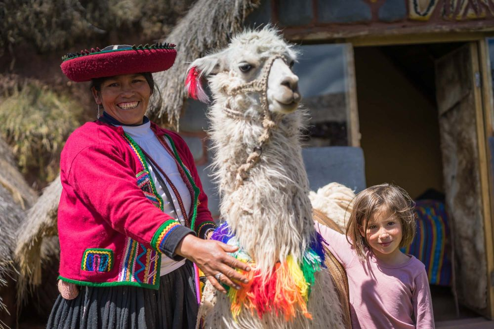 Irene and Manuela the llama are the alpha females at Huchuy Qosqo