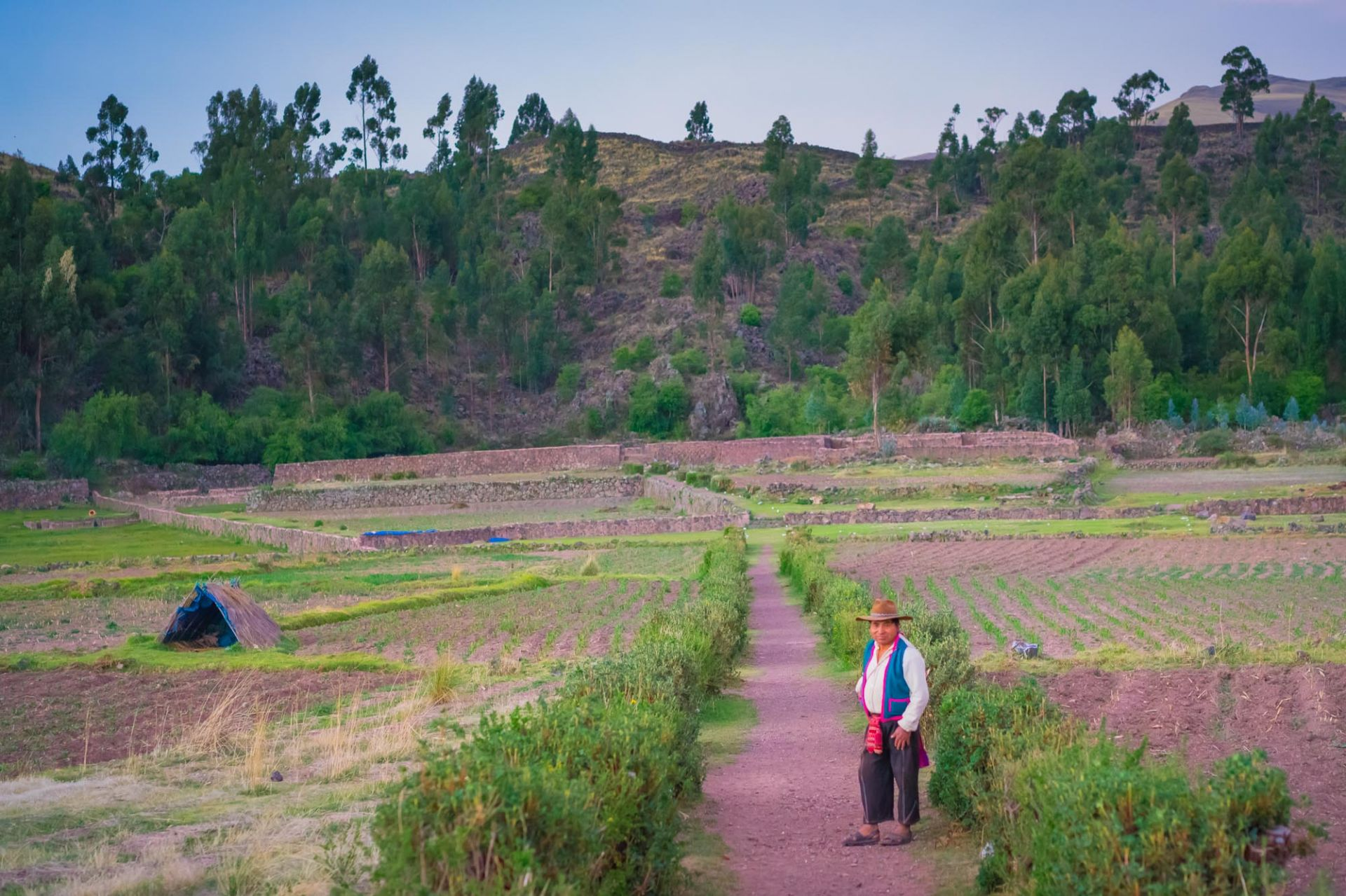 Bonifacio beckons you into his farm at Raqchi, and into the Classic Peru itinerary