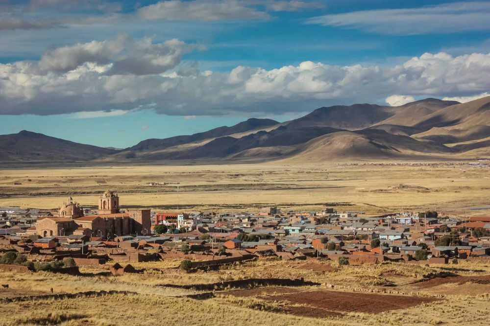 A typical town in the altiplano