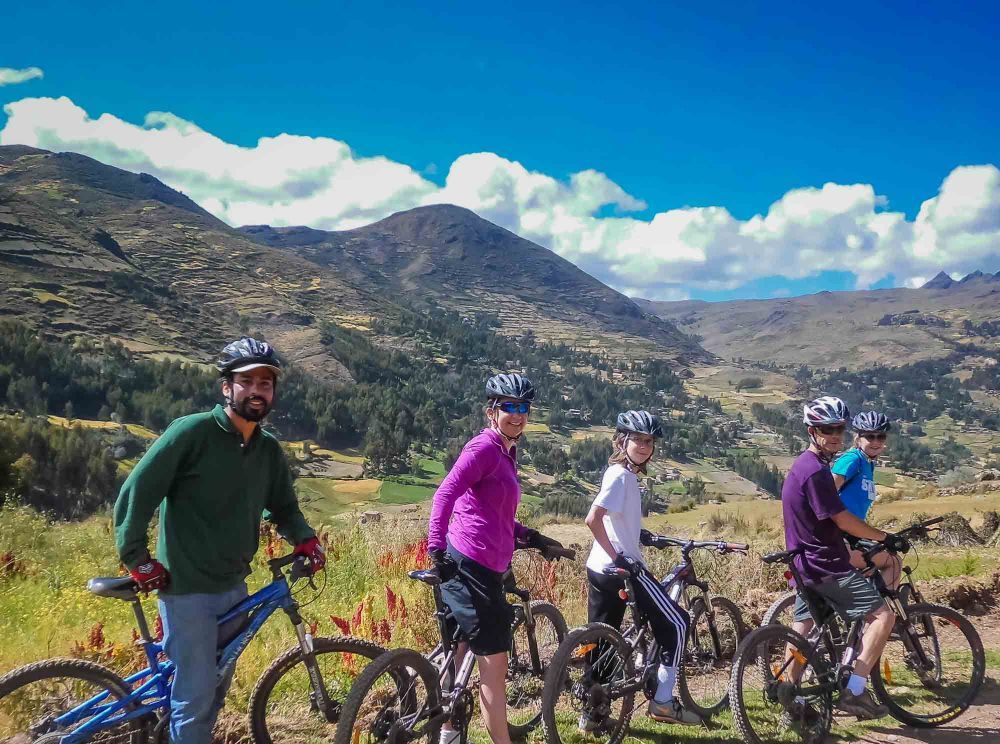 A typical photo stop biking Peru with guide Luis