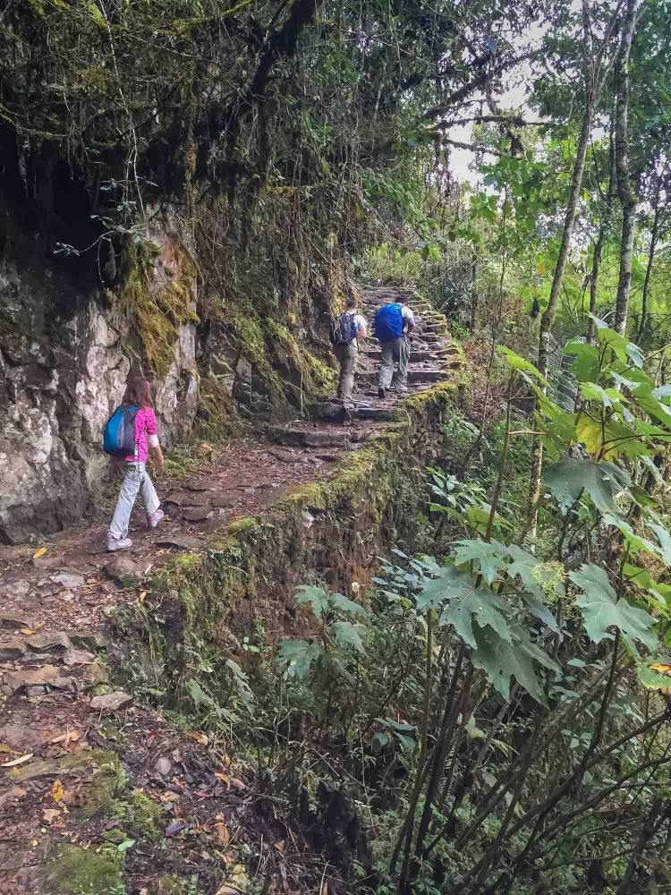 Hiking the two-day trail to Machu Picchu